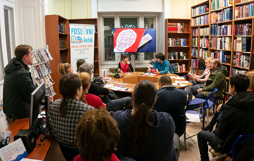 Presentation of The Human Centered Brand at the Rijeka City Library Business Corner